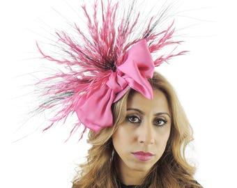 Gavriel heißen rosa Fascinator Hut für Kentucky Derby, Hochzeiten & Bälle