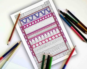 Coloring pages for adults, Indian Patterns, Pattern Coloring Page, Printable Coloring Pages, Mandala design, Coloring sheets, Printable gift