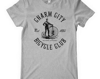 Women's Baltimore Bicycle Club Tee - S M L XL 2x - Charm City Cycling T-shirt - Bike - 4 Colors