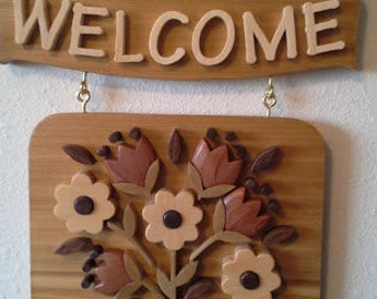 Flower Bouquet Welcome Sign