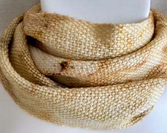 Handwoven Scarf | Ocher Yellow Scarf | One Of A Kind | Unique Scarf | Fiber Art | Unique Gift | Soft And Luxurious | Gift For Her Or Him