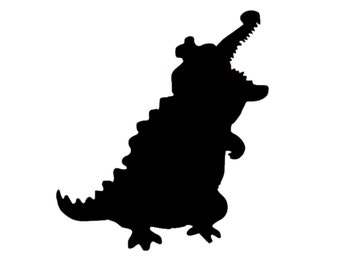 Tick Tock Croc from Peter Pan Decal | Croc Decal | Crocodile Sticker | Peter Pan Decal | Crocodile from Peter Pan Decal | Peter Pan Decal