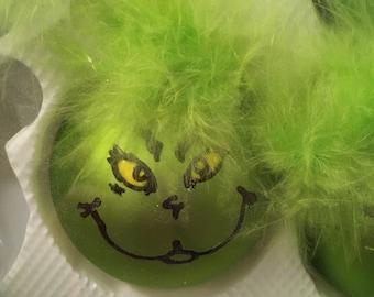 Glass ornaments- Grinch-Stormtrooper- Olaf