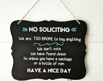 No soliciting door sign - no soliciting sign - door sign custom - door sign - no solicitation sign - no solicitors sign - no solicitors