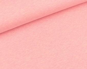 Bio-single-Jersey rose melange (18.50 EUR / meter)