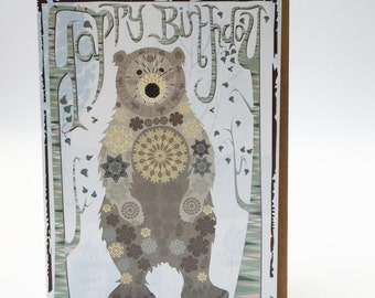 Bear greetings card