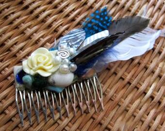 Water Rose Hair Comb Fascinator