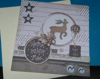 HAND made 954 3D greeting card