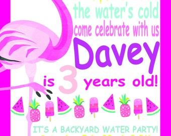 Flamingo Water Play Invitation