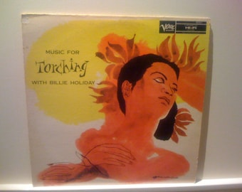 Now On Sale Rare LP Records, Billy Holiday Music For Touching 1950s Verve Vinyl Records Album (1 ) Mono LP