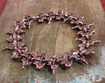 "Cast Bronze Spine-Like Link Bracelet - ""Alyssa"""
