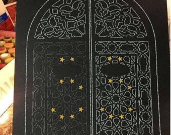 12x16 Dotillism Painting - Gates to Heaven