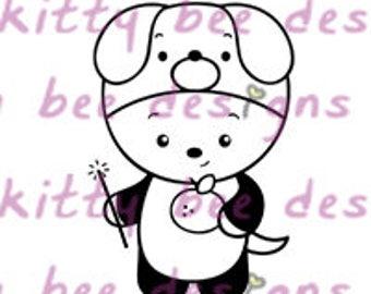 2018 Year of the Dog Panda 1 Digital Stamp