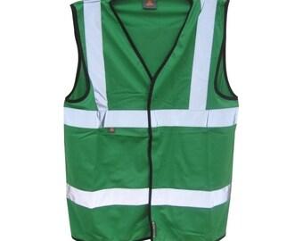 Bottle Green Safety Reflective Hi Visibility Vest, 6 Sizes, Riding, Hen Nights etc6