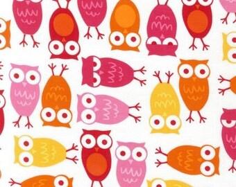 Urban Zoologie Pink Owls by Ann Kelle for Robert Kaufman, 1/2 yard