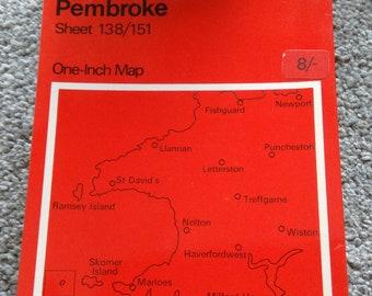 Vintage Ordnance Survey Map No. 138/151.    1965
