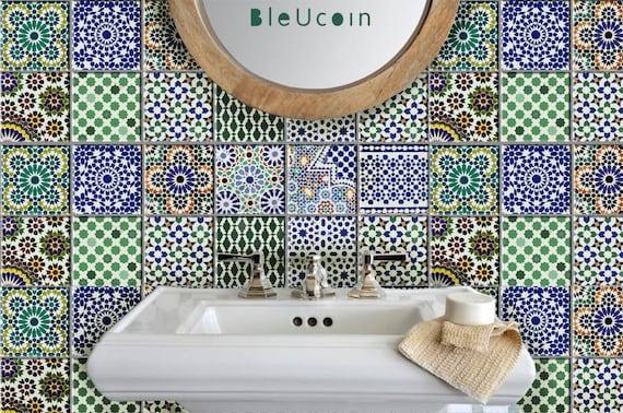 Marokkanische Fliesen fliesen wandtattoo küche bad treppe marokkanische