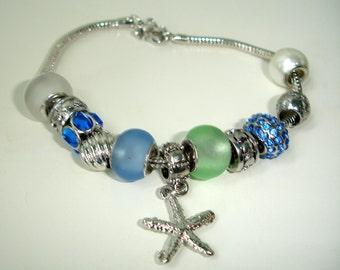 Chrystal bleu - bracelet à breloques - Seastar