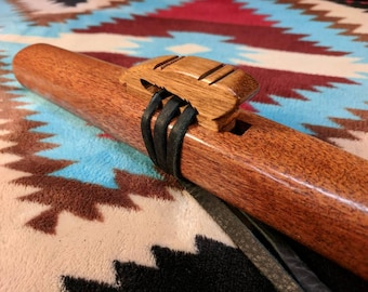 African Mahogany Feather Medicine Flute