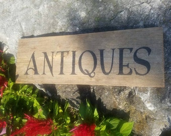Antiques Reclaimed Rustic Barnwood Sign