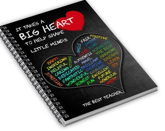 Gift for Teacher, Teacher Christmas Gift, Class Gift for Teacher, Teacher Appreciation, Notebook gift for Teacher, Teachers Gift, Notebook
