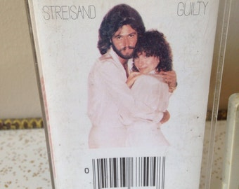 80s Barbra Streisand Guilty Vintage eighties 1980s cassette tape Barry Gibb