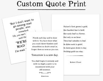 Custom Quote Wall Art Print, personalized graduation gift for her, for him