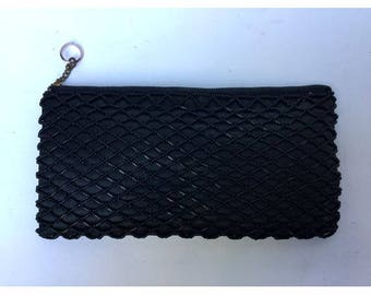 1950s small beaded zipped PURSE CLUTCH