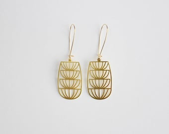 Art Deco Fountain Earrings | ATL-E-221
