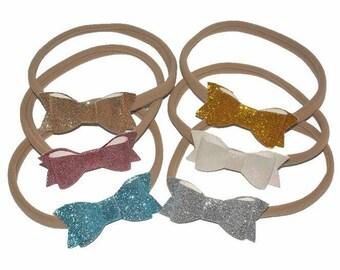 1pcs/lot 13'' inch Headbands Fashion Girl/Children's Bling Hair Headbands, Glitter Bow knot Hair Headbands -- YTC14