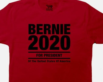 presidential T-Shirt For Bernie Sanders 2020  - Screen Printed - Available in S to  2XL