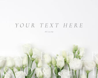 Styled stock photography, Floral flatlay, Floral mockup, Styled photography, Instant download, Digital photo, Floral image, Flatlay display