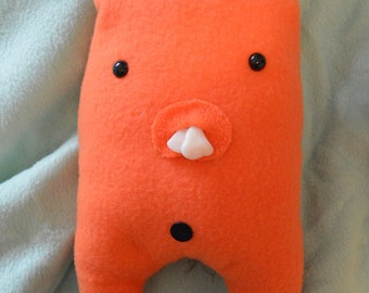 Orange bunny plush