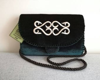 Handmade velvet bag with traditional circassian embroidery