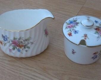 Minton Marlow milk jug and jam pot