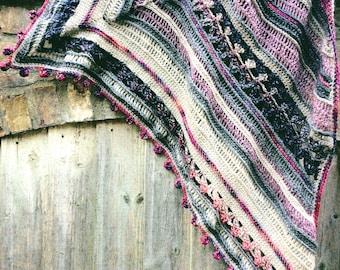 Corners Shawl Crochet Pattern ~ PDF ~ UK and US terminology