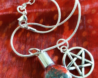 Witches bottle necklace