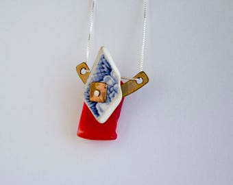 Construction-02 - Mixed Media Necklace