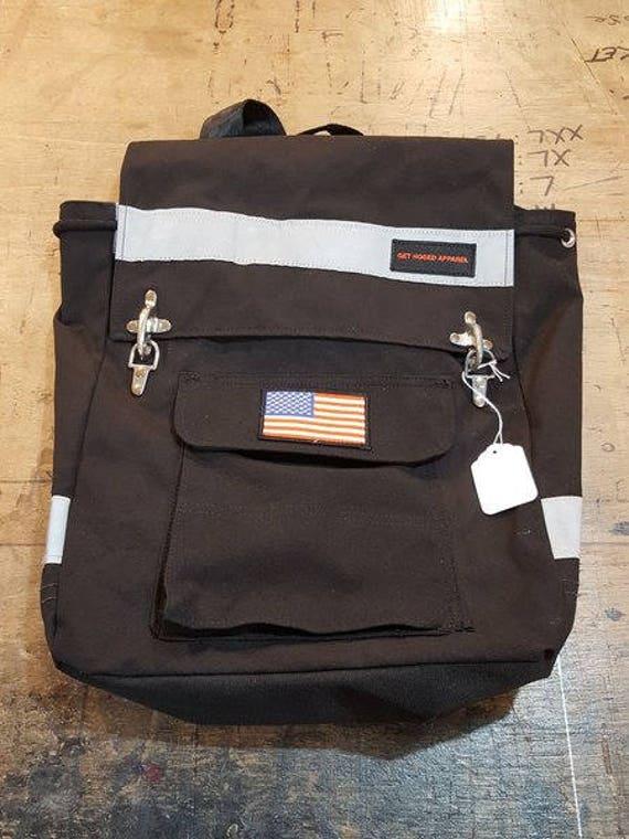 Rucksack Backpack. Bunker gear. Firefighter. Upcycled.
