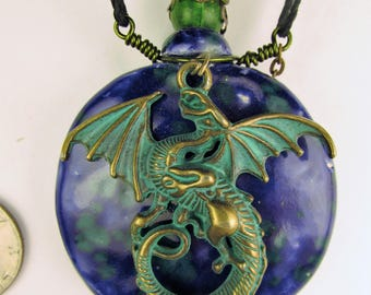 Oil Diffuser Necklace  Hand Sculpted OoAK  (M)