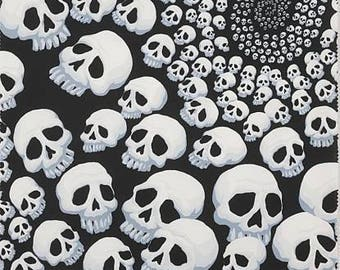 Skullfinity Black/White Cotton Woven by Alexander Henry