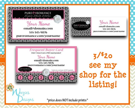 frequent buyer card template free pure romance frequent buyer card business - Pure Romance Business Cards