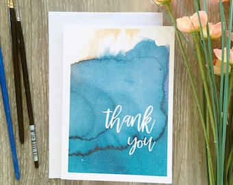Thank You Blank Greeting Card/ Hand Made