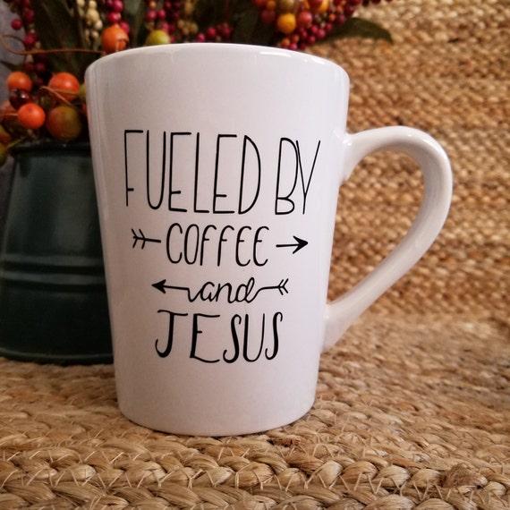 Fueled by Coffee and Jesus 14oz Mug coffee mug coffee cup tea cup
