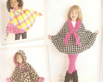 SIMPLICITY Sewing Pattern 1706A - Children's Clothes - Child's Fleece Capes, Sizes S-L
