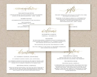 Enclosure Cards Template, Wedding Detail Cards, Accommodation Card, Directions Card Printable, Editable Detail Card Wishing Well - KPC03_104