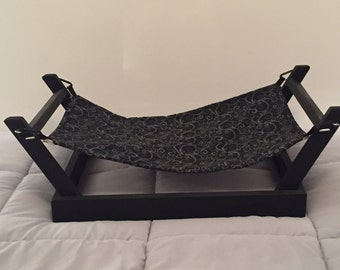 Black Pet Hammock Stand