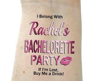 Bachelorette tattoo bridesmaid tattoo bachelorette party tattoos temporary tattoo rose colored tattoos lip tattoo