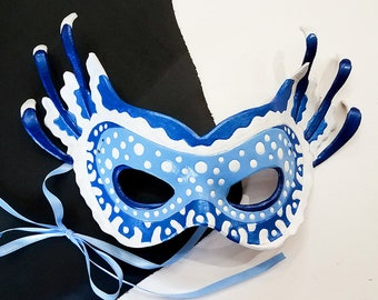 Leather Spotted Jellyfish Mask- Made to Order
