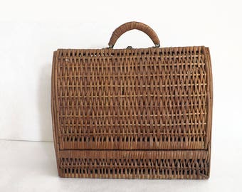 Vintage rattan - Antique rattan bag purse